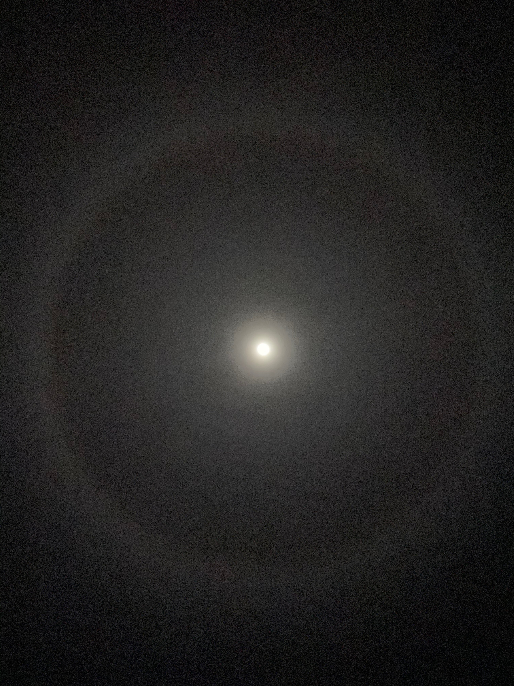 Full moon with a halo around it